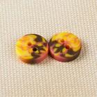Пуговица, 2 прокола, 11мм, цвет янтарный