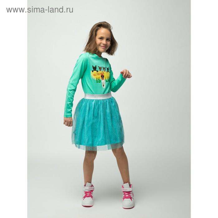 Джемпер для девочки, рост 146 см, цвет бирюзовый (арт. 16-1-42g-45-555-3)