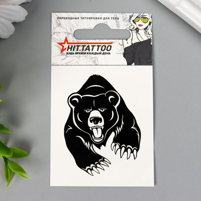Татуировка на тело ''Черный медведь'' 5,3х6,3см 1399552