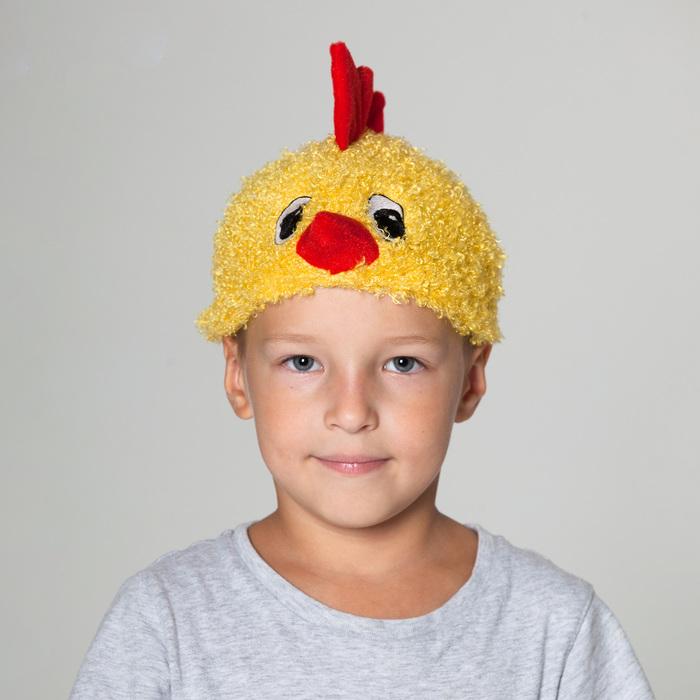 """Карнавальная  шапка """"Цыпленок"""" обхват головы 52-55см"""
