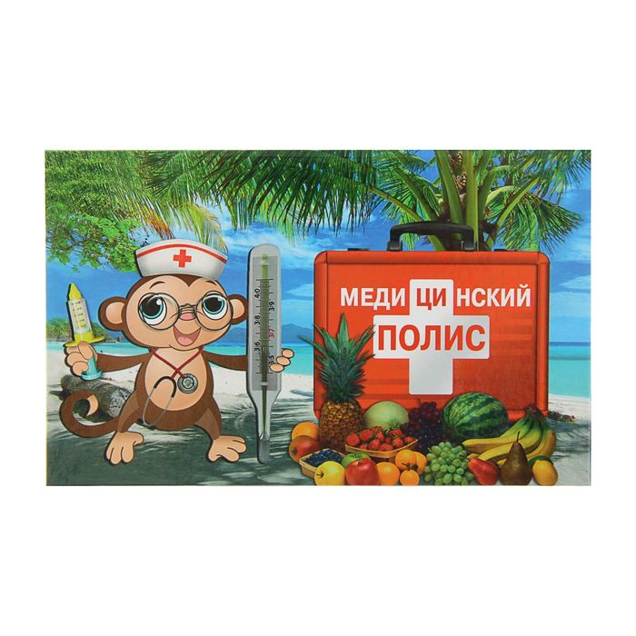 """Папка для медицинского полиса """"Обезьяна"""""""