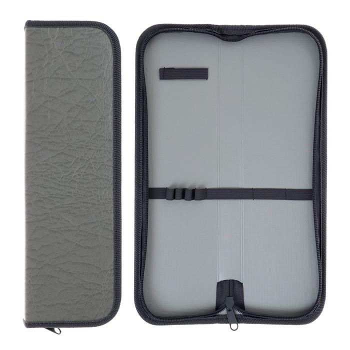 Пенал для кистей L=270 мм искусственная кожа, Серый