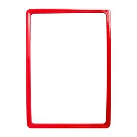Рама из ударопрочного пластика с закругленными углами А4, без протектора, цвет красный