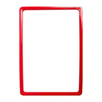 Рама пластиковая, формат А4, без протектора, цвет красный