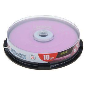 Диск DVD+RW Mirex, 4x, 4,7 Гб, Cake Box, 10 шт Ош