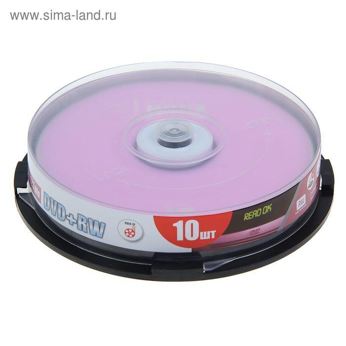 Диск DVD+RW Mirex, 4x, 4,7 Гб, Cake Box, 10 шт