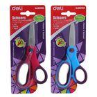 Ножницы канцелярские 13см пластиковые ручки МИКС на блистере DELI E37453