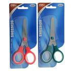 Ножницы канцелярские 13,2см пластиковые ручки МИКС на блистере DELI E6007