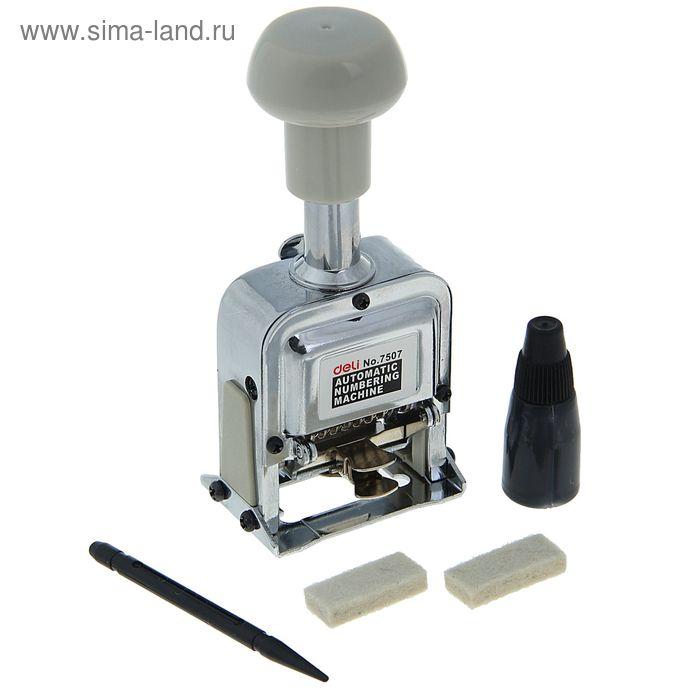 Нумератор 7 разрядный металлический автоматический DELI