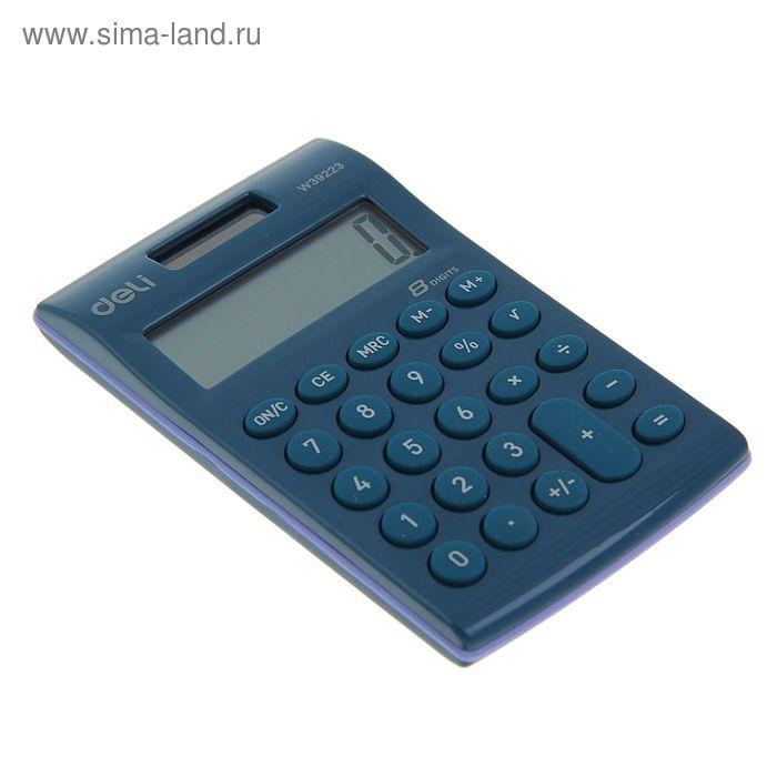 Калькулятор карманный 08-разрядный W39223 с крышкой МИКС DELI