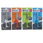 Ножницы канцелярские 17см пластиковые ручки МИКС на блистере DELI 6049