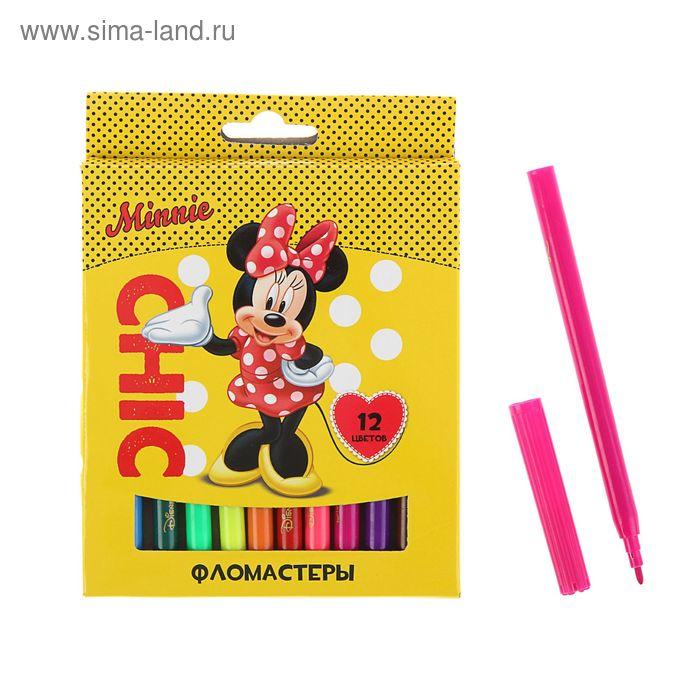 """Фломастеры 12 цветов Disney """"Минни"""""""