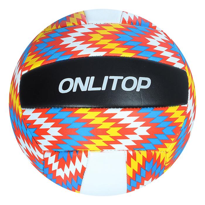 Мяч волейбольный V5-22, 18 панелей, PVC, 2 подслоя, машинная сшивка, размер 5