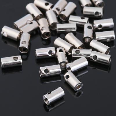 Концевик, цвет серебро, 7*4 мм, (набор 30шт)