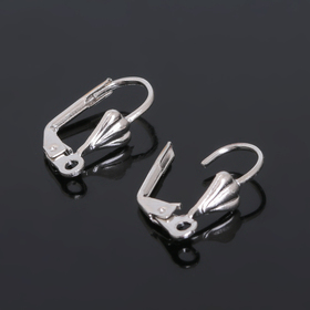 Earrings with a French clasp, 18 mm (set of 5 pairs) color: silver