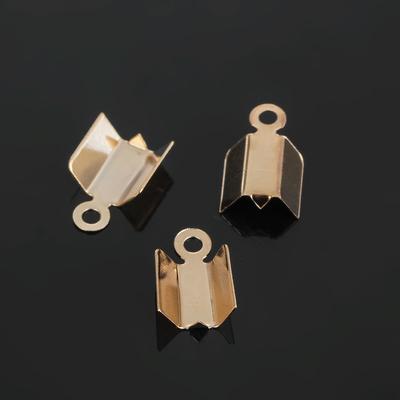 Концевик-зажим, 10 мм (набор 20шт), цвет золото