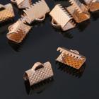 Зажим для ленты, (набор 20шт), цвет золото, 10 мм