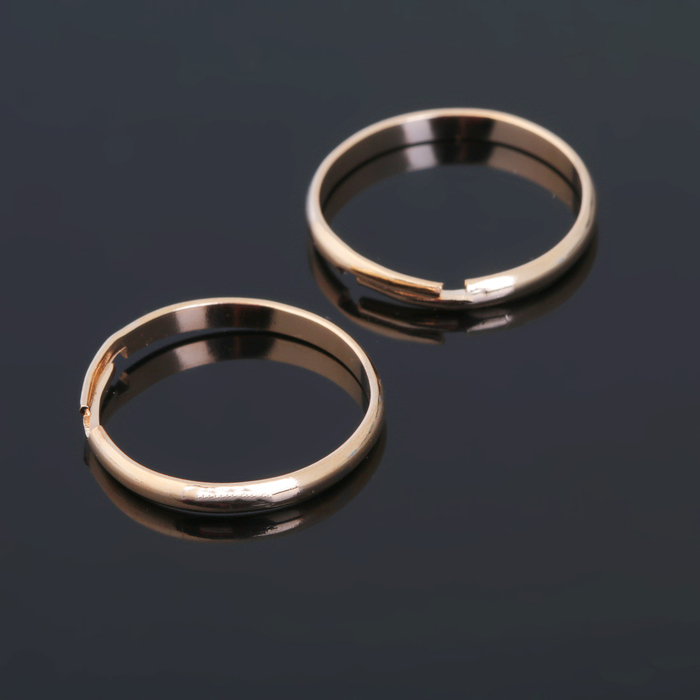 Основа для кольца регулируемая (набор 5 шт), цвет золото