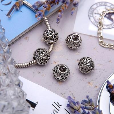 "Талисман ""Узор"", цветы, цвет серебро"