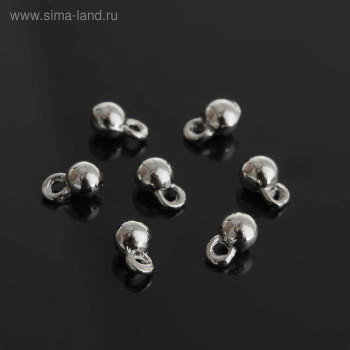 Концевик для цепочки, цвет серебро, 4*6 мм (набор 30шт)