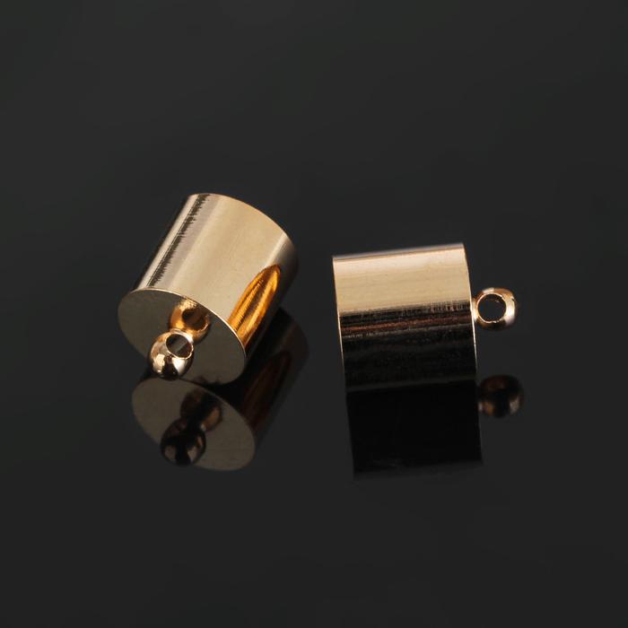 Концевик-шапочка, цвет золото, 11,2*14 мм (набор 5шт)