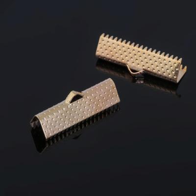 Зажим для ленты, (набор 10шт), цвет золото, 22 мм