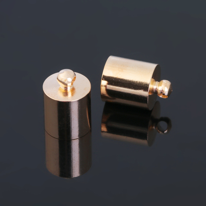 Концевик-шапочка, цвет золото, 9 мм (набор 5шт)