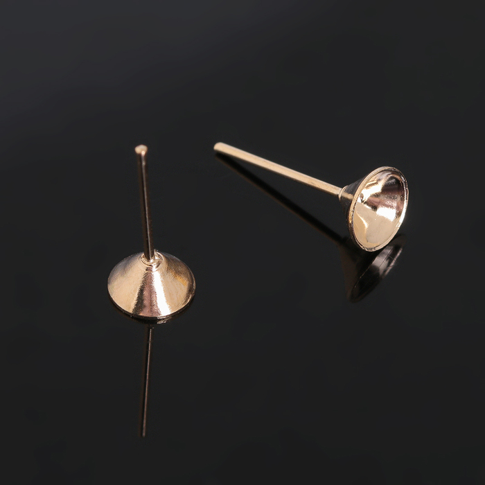"""Швензы """"Гвоздики"""" для изготовления пусет, цвет золото, 6 мм (набор 5 пар)"""