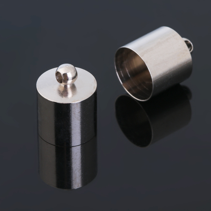 Концевик-шапочка, цвет серебро, СМ-167, 11,2*14 мм (набор 5шт)