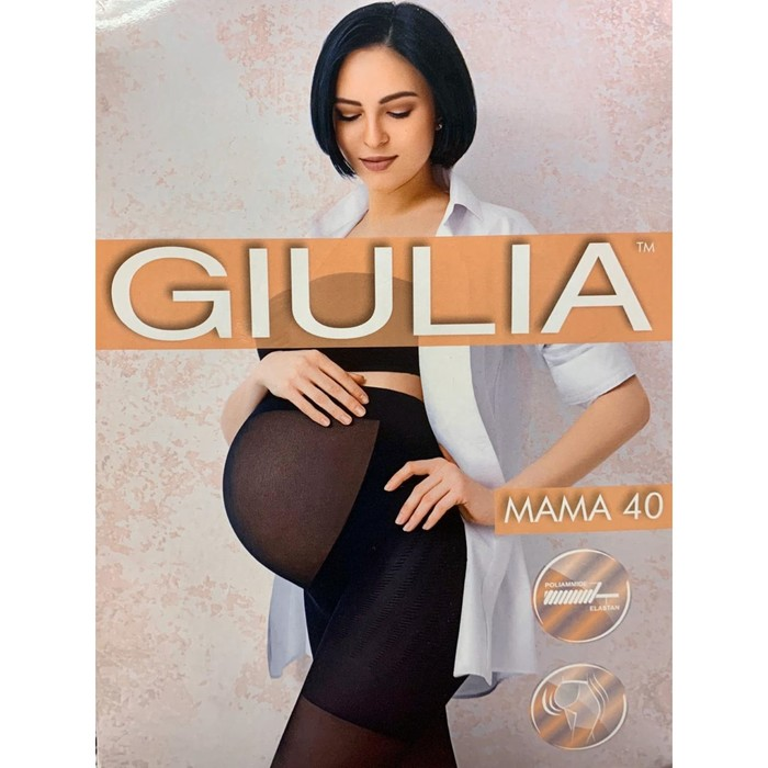 Колготки для беременных GIULIA MAMA 40 ден, цвет чёрный (nero), размер 2