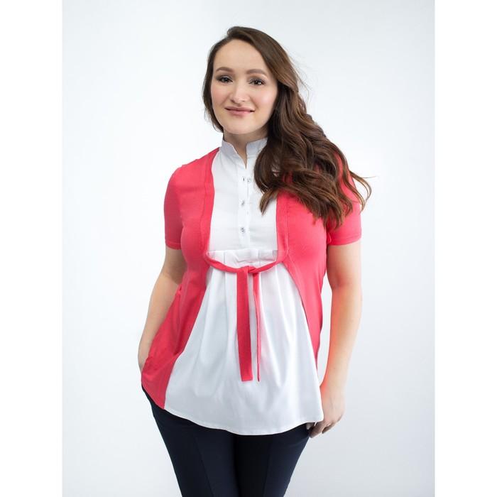 Блузка для беременных 2236, цвет арбуз, размер 48, рост 170