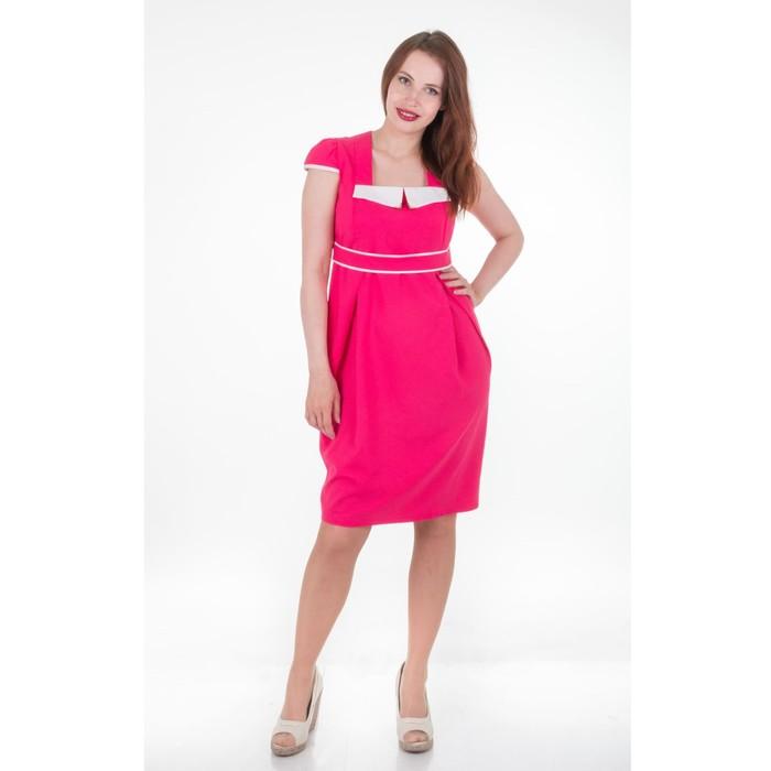 Платье женское 1560, цвет малина, размер 46, рост 170