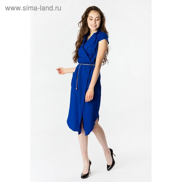 Платье женское, размер 56, рост 168, цвет электрик (арт. 17251 С+)