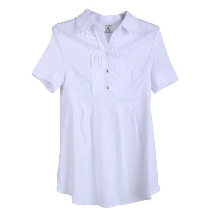 Блузка для беременных 2216, цвет белый, размер 46, рост 170