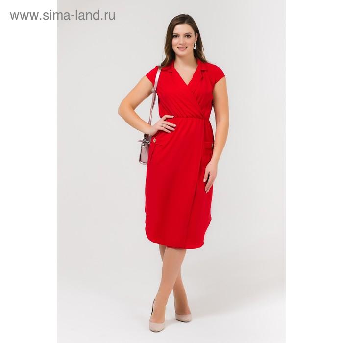 Платье женское, размер 54, рост 168, цвет красный (арт. 17251 С+)