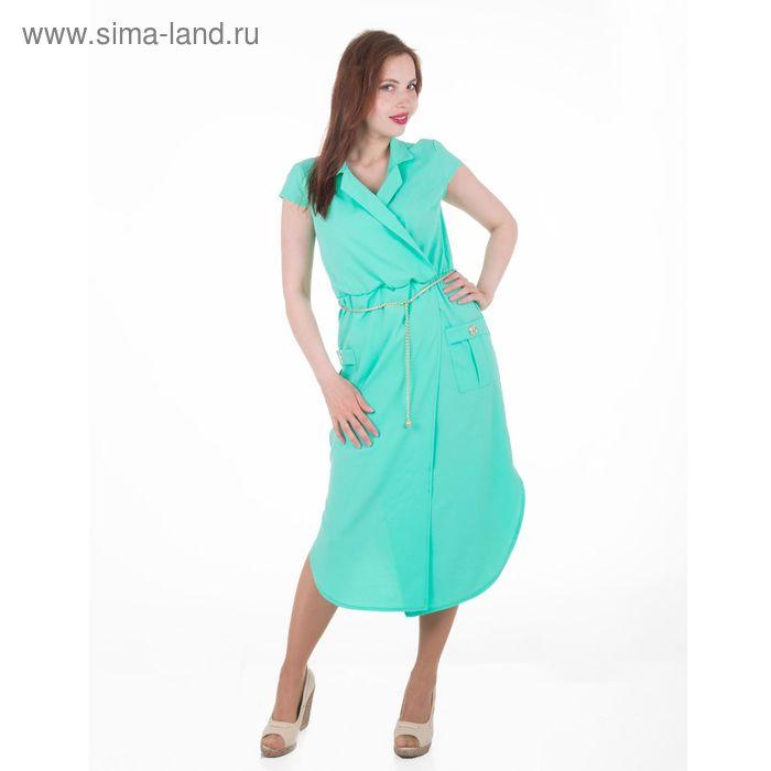 Платье женское, размер 54, рост 168, цвет мята (арт. 17251 С+)