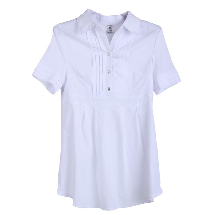 Блузка для беременных 2216, цвет белый, размер 48, рост 170