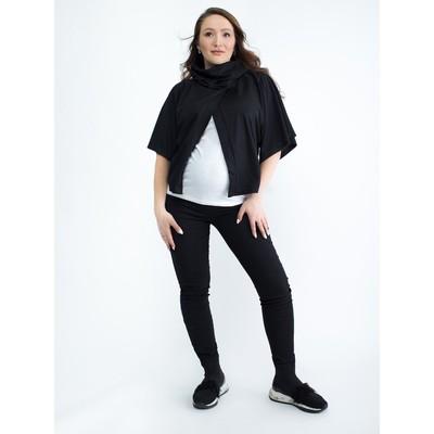 Блузка для беременных 2206, цвет черный, размер 46, рост 170