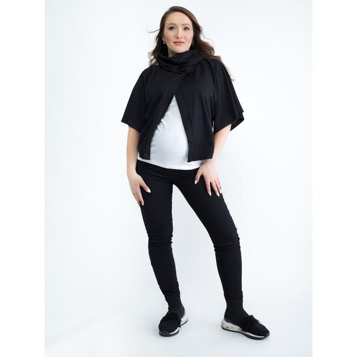 Блузка для беременных 2206, цвет черный, размер 44, рост 170