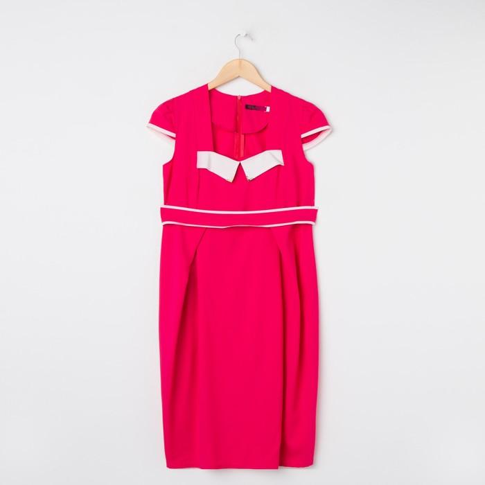 Платье женское 1560, цвет малина, размер 44, рост 170