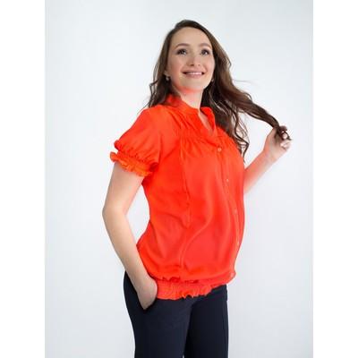 Блузка для беременных 2246, цвет оранжевый, размер 48, рост 170