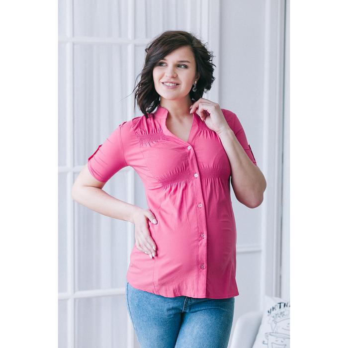 Блузка для беременных 2242, цвет малина, размер 42, рост 170