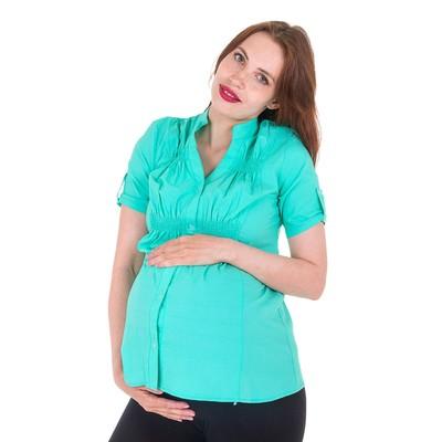 Блузка для беременных 2242, цвет ментол, размер 46, рост 170