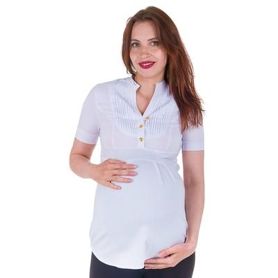 Блузка для беременных 2215, цвет белый, размер 46, рост 170