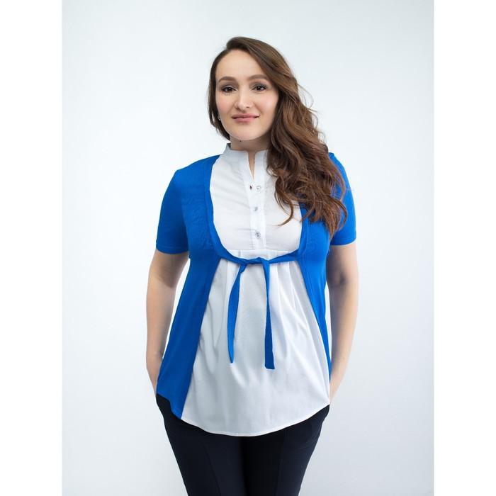 Блузка для беременных 2236, цвет синий, размер 44, рост 170