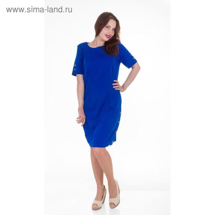 Платье женское, размер 52, рост 168, цвет голубой (арт. 17212 С+)