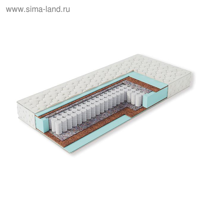Матрас пружинный Эко 14 Люкс, размер 160*200*18 см, жаккард хлопковый