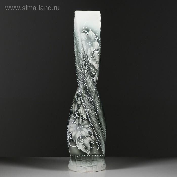 """Ваза напольная """"Виталина"""" жемчуг, цветы"""