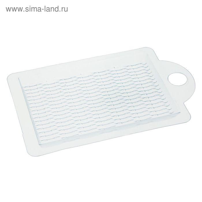 """Пластиковая форма """"Текстурный лист """"Плетение (Ива)"""""""