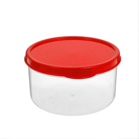 The food container 300 ml round color red